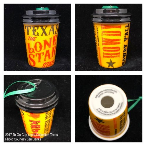 2017 To Go Cup Local Collection Texas Starbucks Ornament