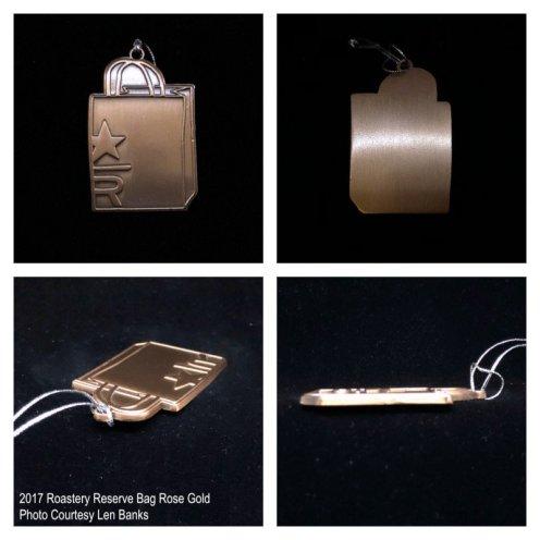 2017 Roastery Reserve Bag Rose Gold Starbucks Ornament