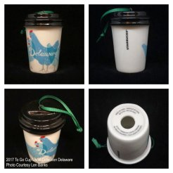 2017 To Go Cup Local Collection Delaware Starbucks Ornament