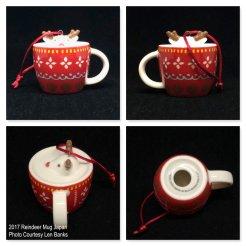 2017 Reindeer Mug Japan Starbucks Ornament