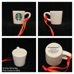 2018 Mini Gift Set Mug Starbucks Ornament