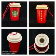 2018 Red To Go Cup Europe Starbucks Ornament