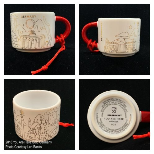 2018 You Are Here Gold Germany Starbucks Ornament