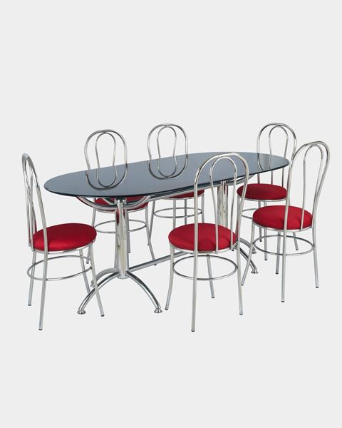 steel chair dining table slipcovered living room chairs restaurant and set online furniture picture of