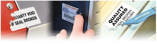 Etichette distruttibili per contrassegni di sicurezza