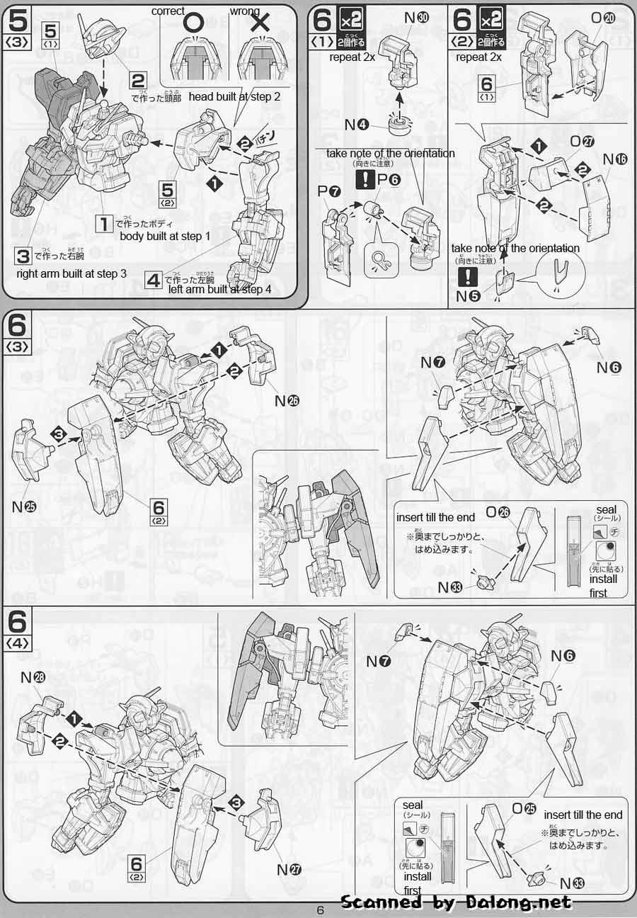 1/100 Gundam Avalanche Exia English Manual & Color Guide