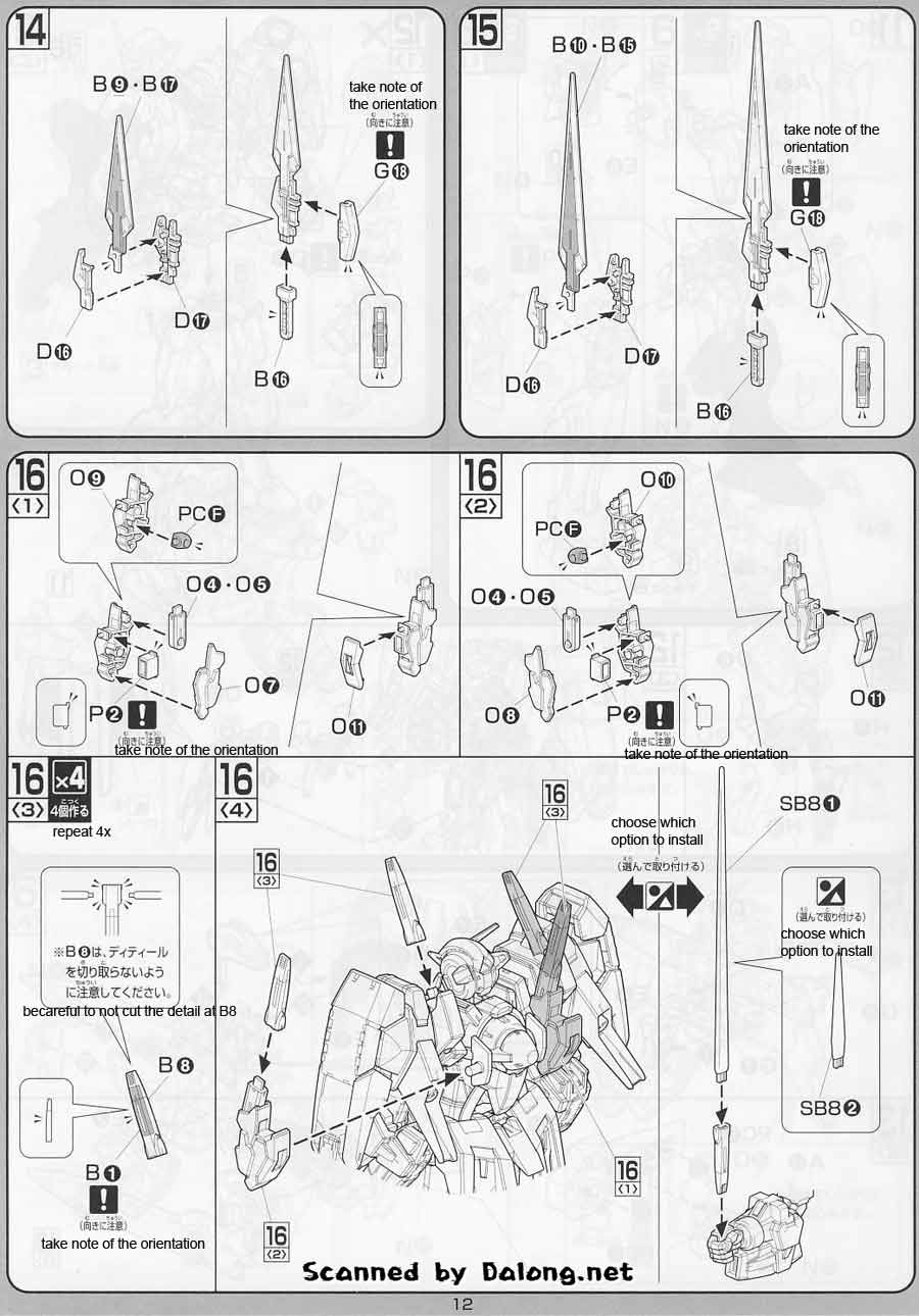 1/100 Gundam Avalanche Exia English Manual & Color Guide