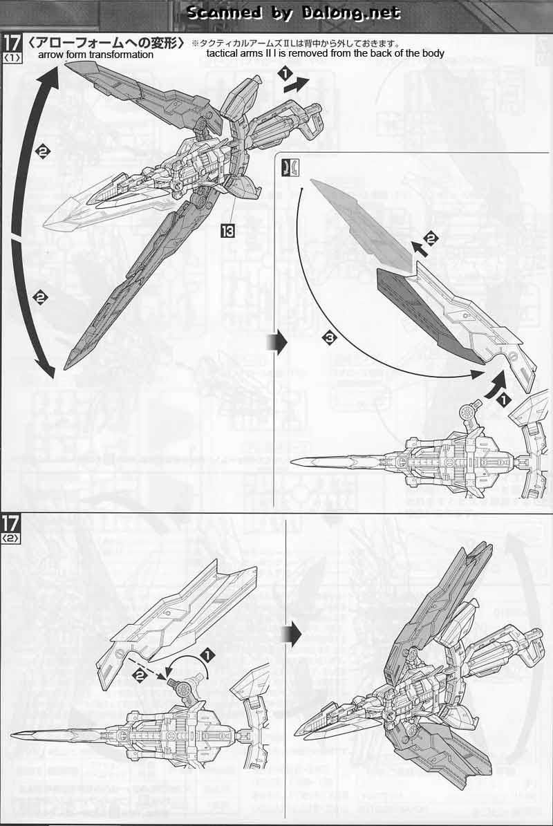 MG Gundam Astray Red Frame Kai English Manual & Color