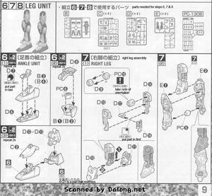 MG GAT-X105 Strike Gundam + I.W.S.P. English Manual and