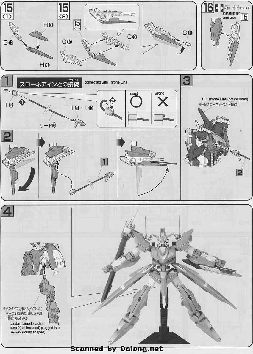 HG Gundam Throne Zwei English Manual and Color Guide