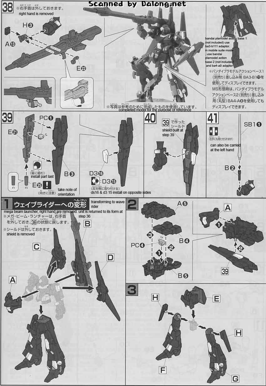 HG ReZEL Commander ver English Manual and Color Guide