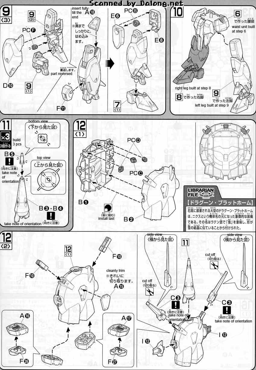 1/100 Nix Providence Gundam English Manual & Color Guide