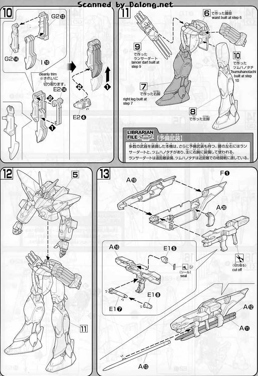 1/100 Nebula Blitz Gundam English Manual & Color Guide