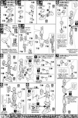 MG Gundam F91 Harrison Maddin Custom English Manual and