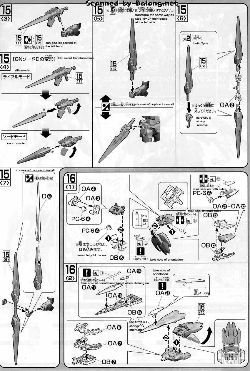 HG OO Raiser (GN Condensor Type) English Manual and Color