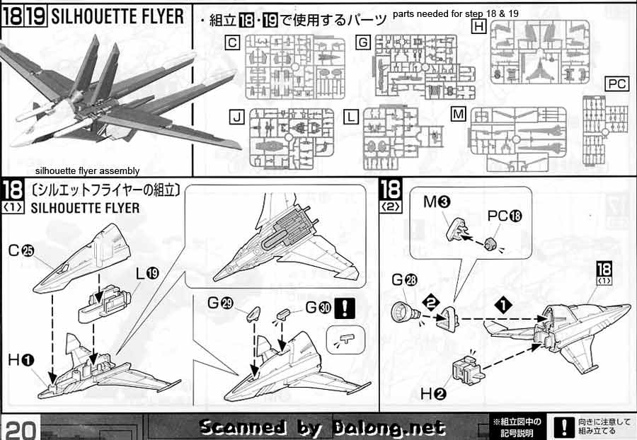 MG Force Impulse Gundam English Manual & Color Guide