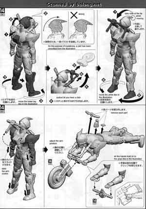 MG Figurerise Kamen Rider Accel English Manual & Color
