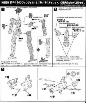 Frame Arms SA-16d Khanjar English Manual & Color Guide