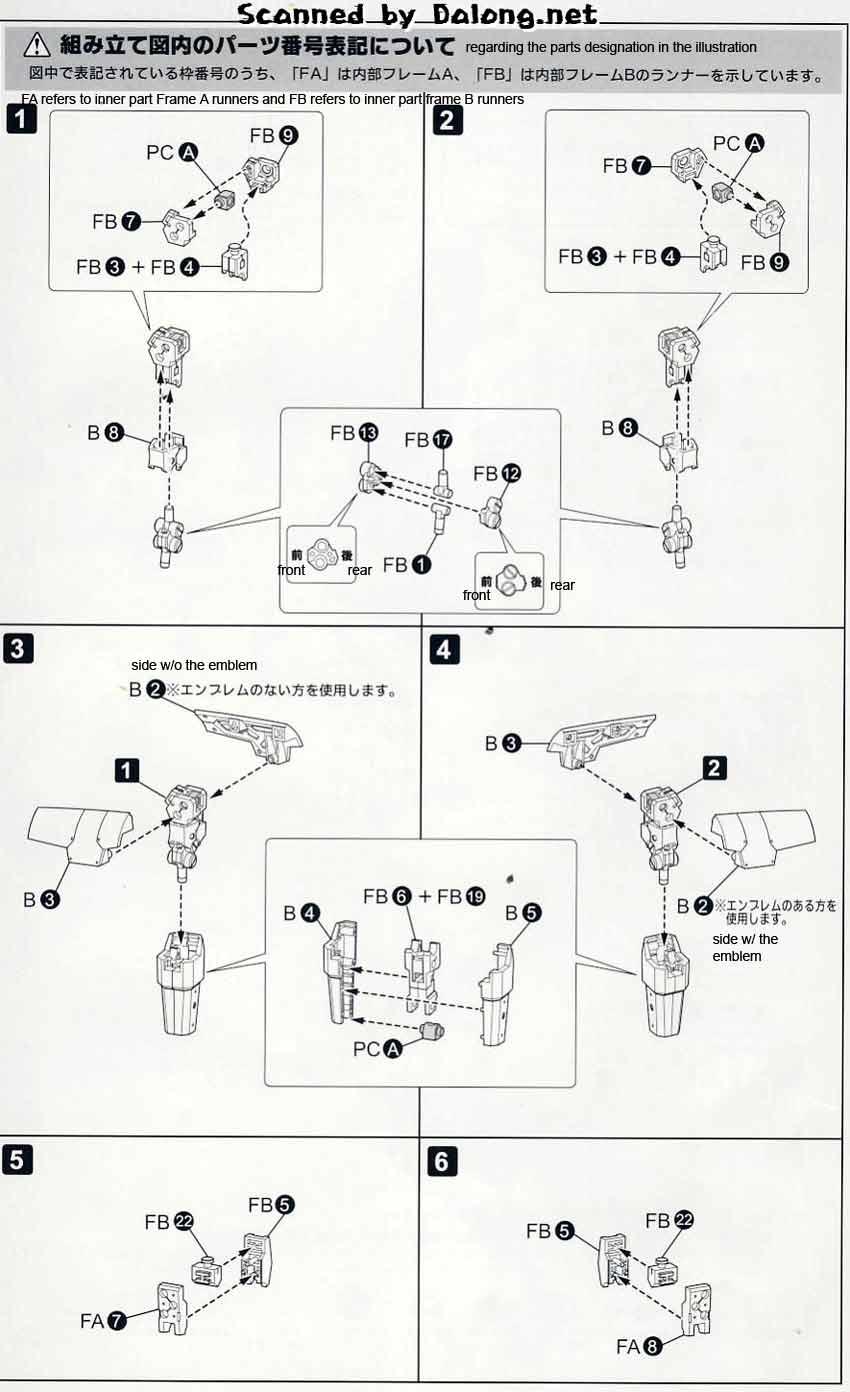 1/60 Break Blade Eltemus English Manual & Color Guide