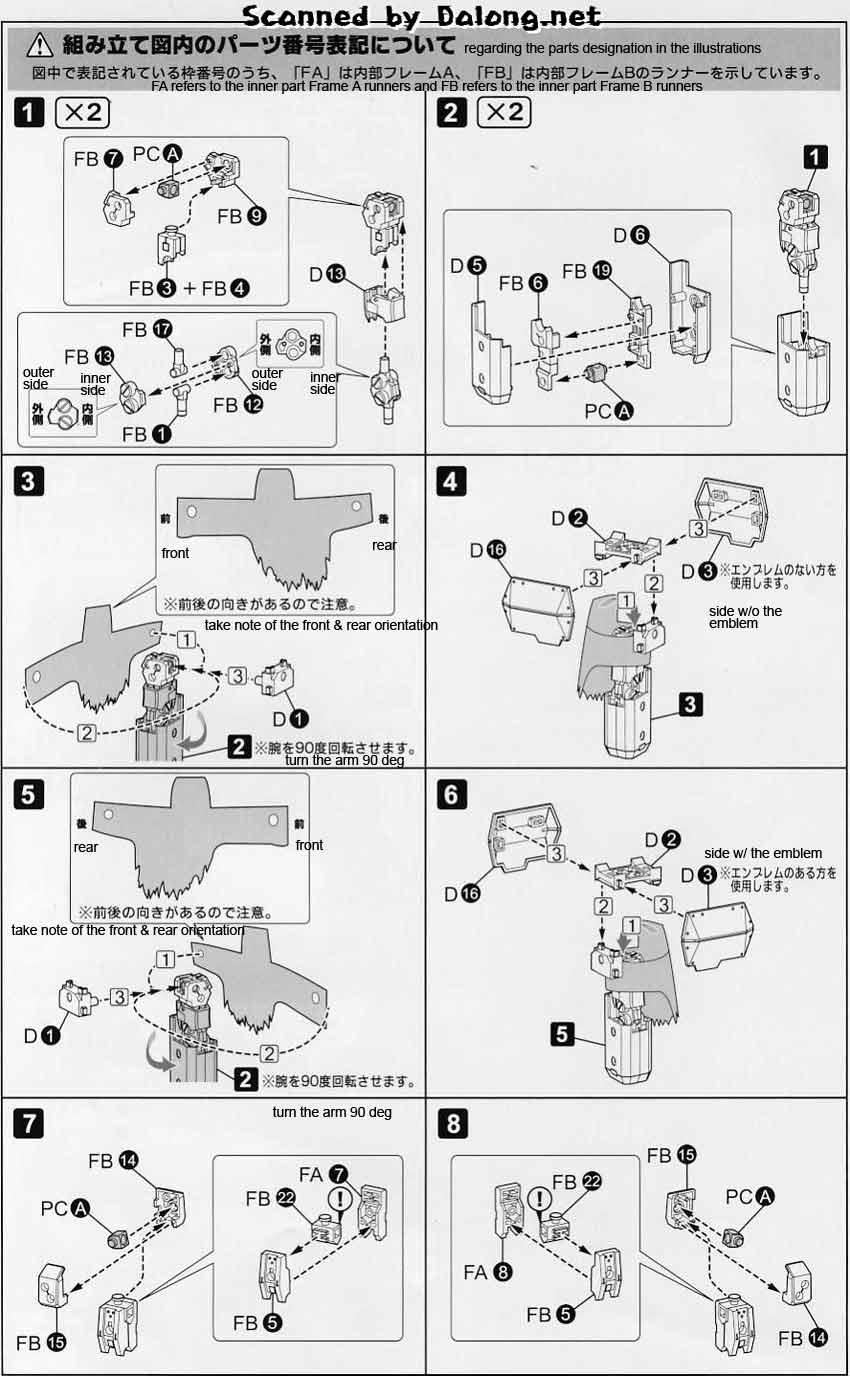 1/60 Break Blade Fafnir English Manual & Color Guide