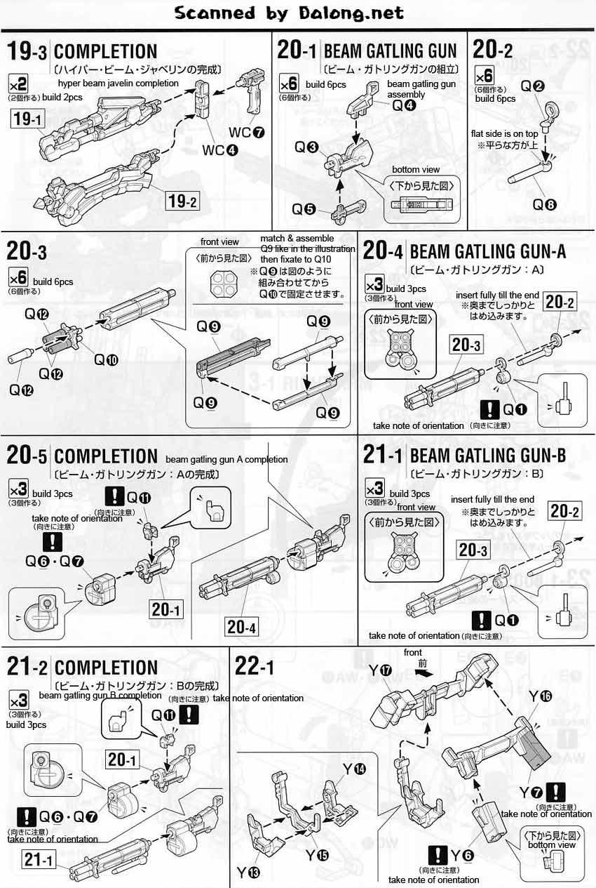 MG Full Armor Unicorn Gundam English Manual & Color Guide