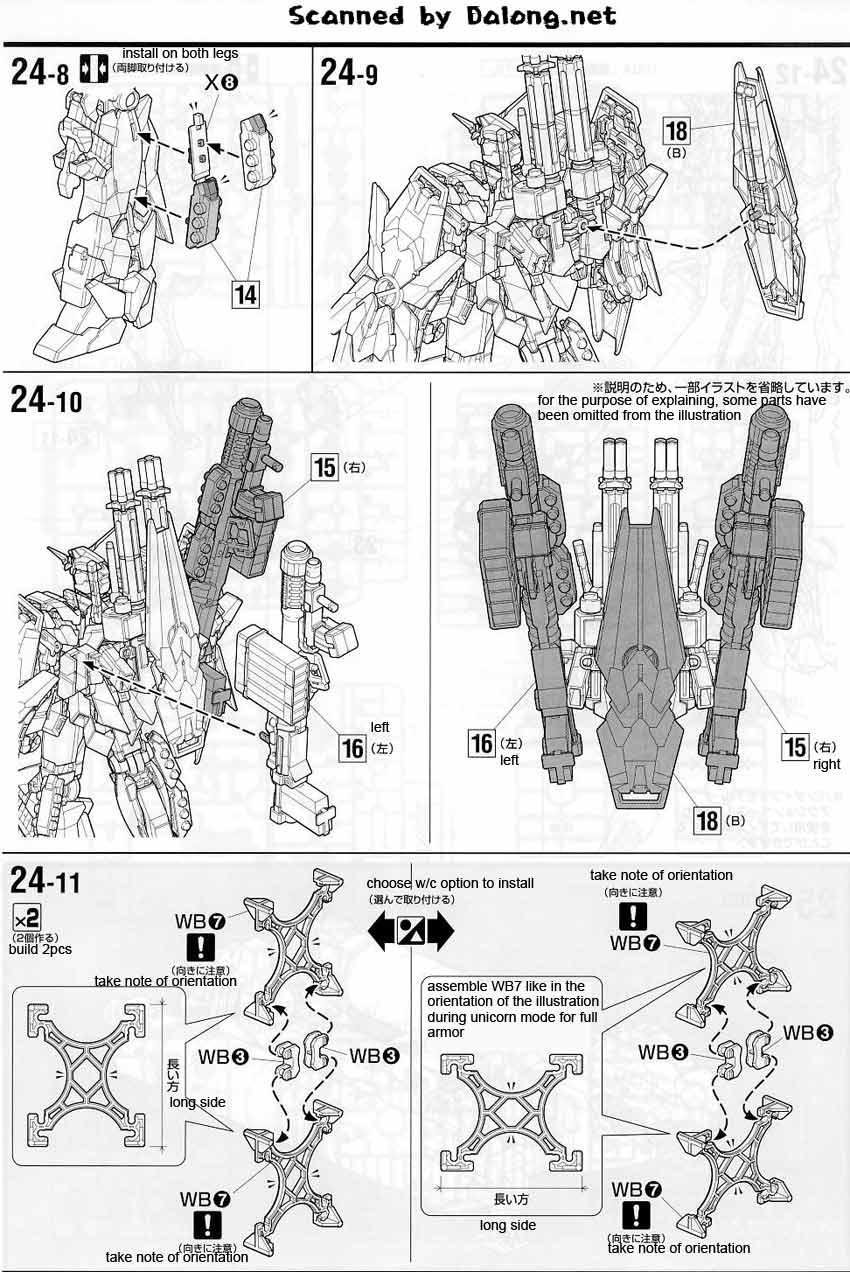 MG Full Armor Unicorn Gundam English Manual & Color Guide