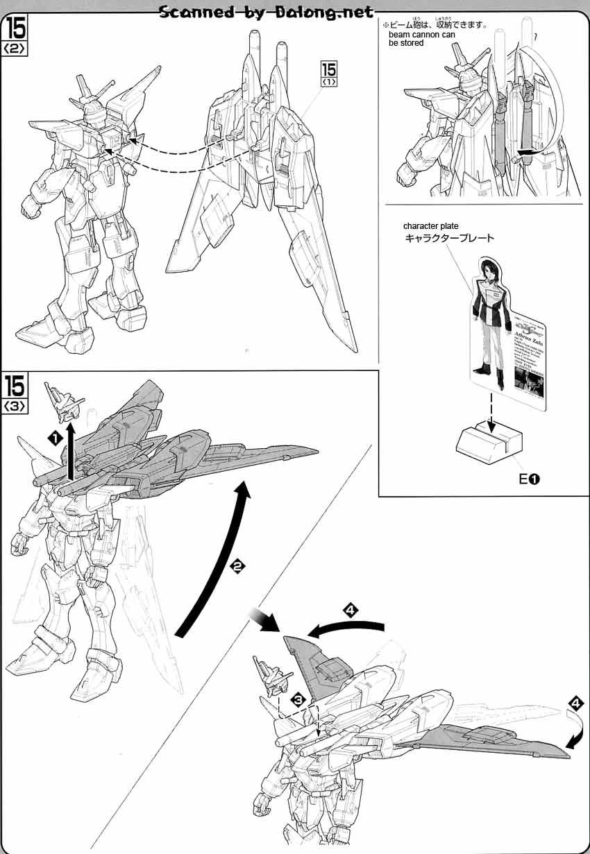 1/100 Infinite Justice Gundam English Manual & Color Guide