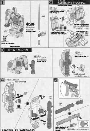 HG Gundam GP02A (Type-MLRS) English Manual & Color Guide
