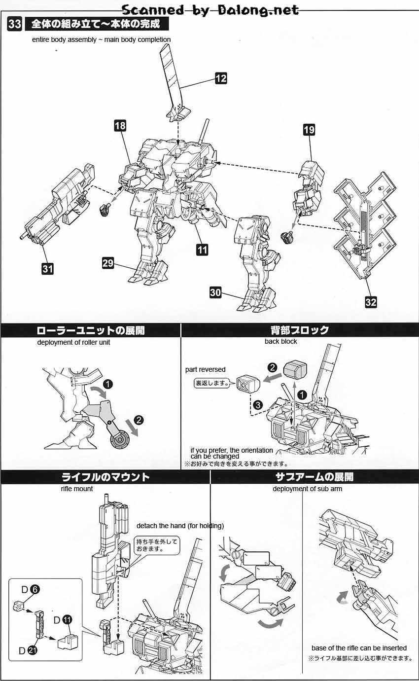 Frame Arms Type 48 Model I Kagutsuchi-Kou English Manual