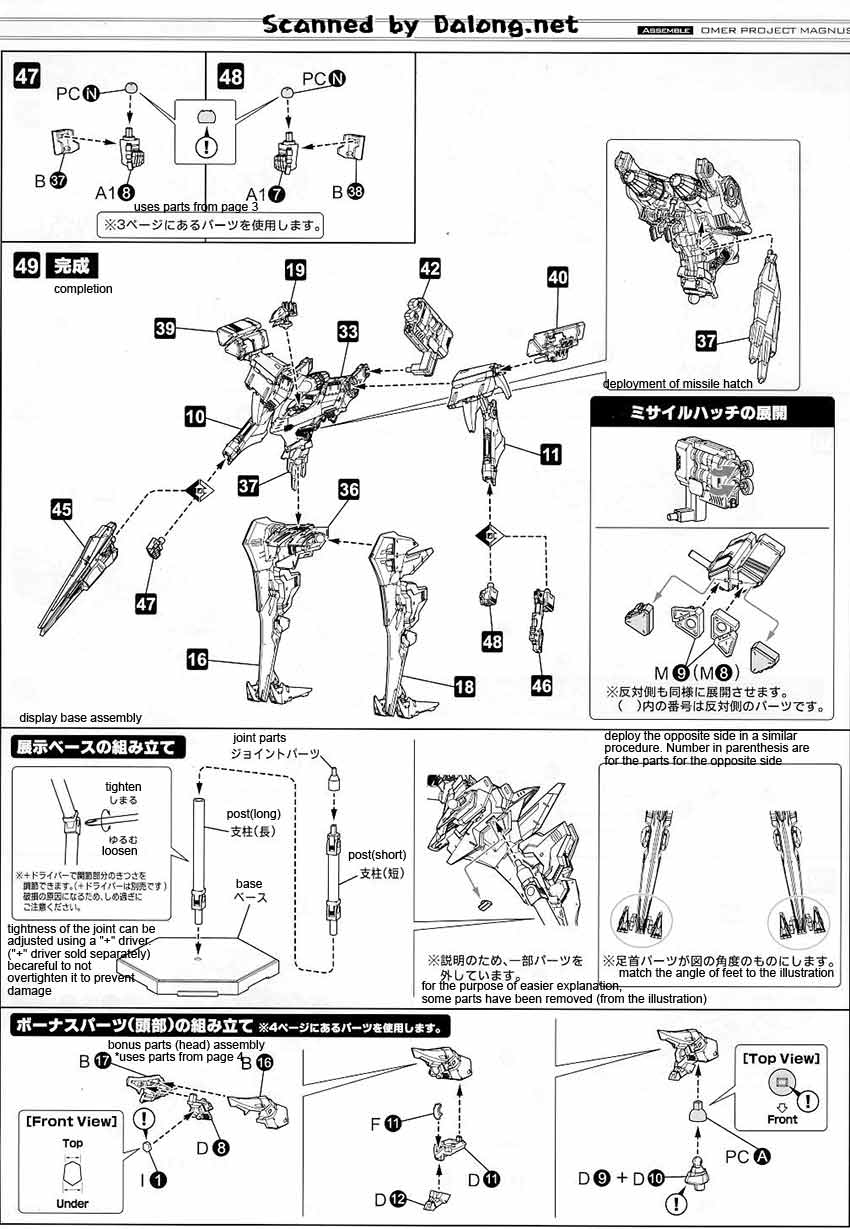 1/72 Omer Project Magnus English Manual & Color Guide