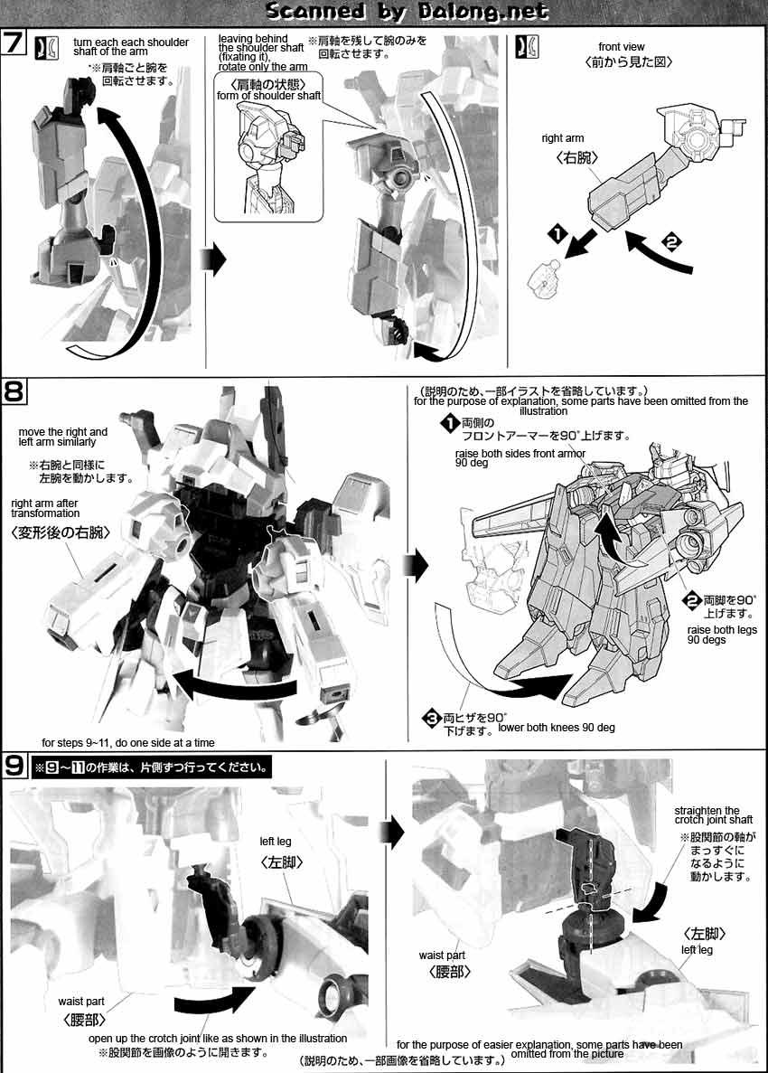 MG ReZEL Type-C (Defenser A+B-Unit) (GR) English Manual