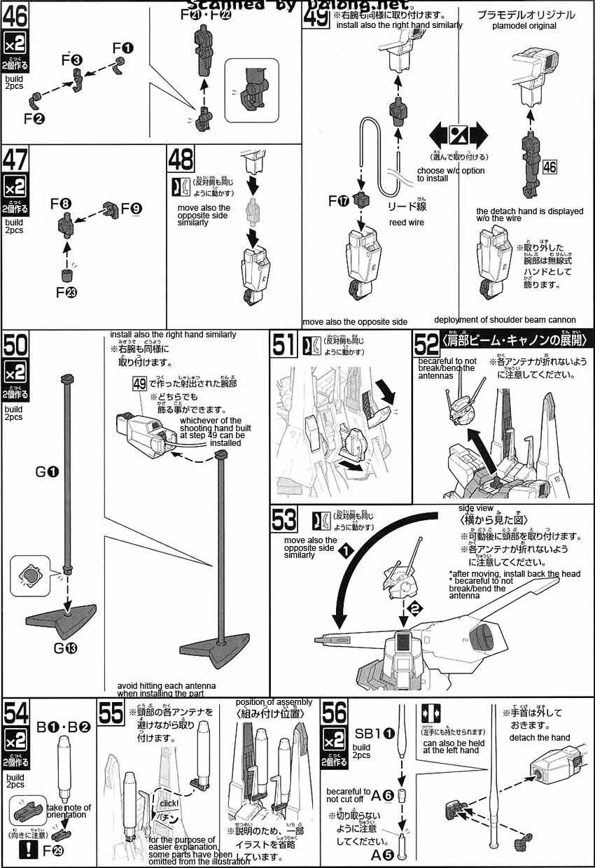 HG ARX-014 Silver Bullet English Manual & Color Guide