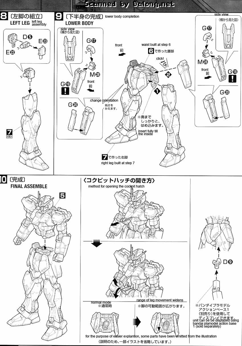 MG Strike Rouge + Ootori English Manual & Color Guide
