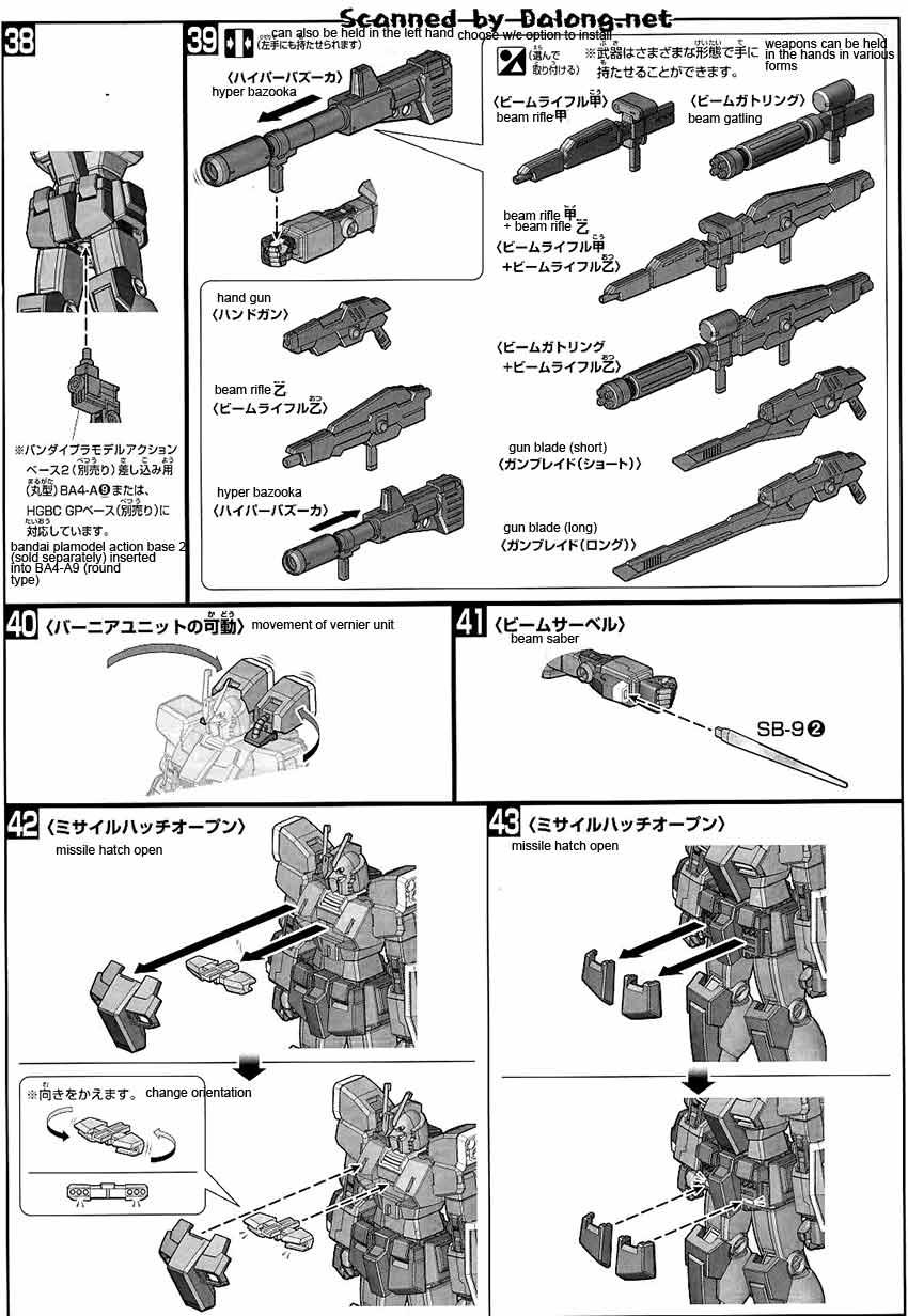 HG Gundam Amazing Red Warrior English Manual & Color Guide