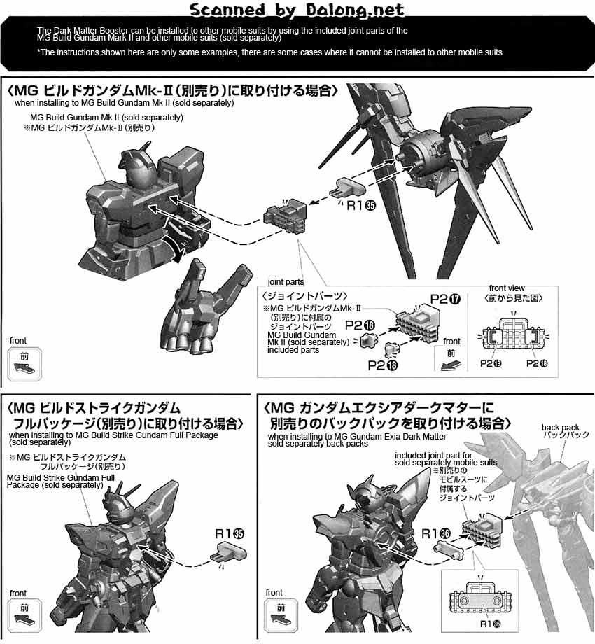MG Gundam Exia Dark Matter English Manual & Color Guide