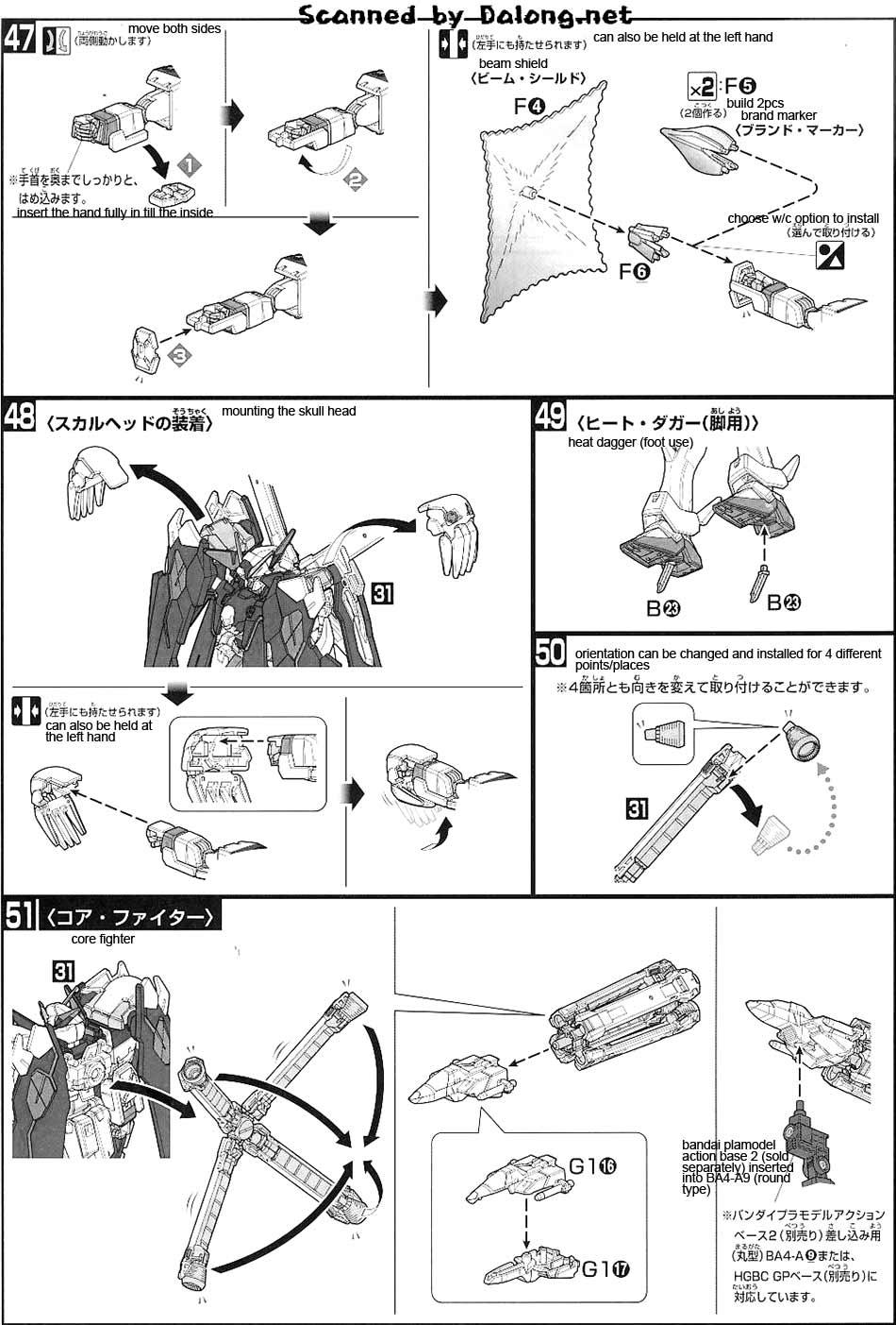 HG Crossbone Gundam X1 Full Cloth Type.GBFT English Manual