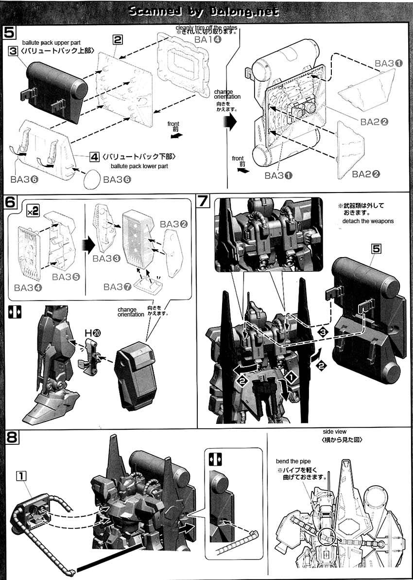 MG Hyaku Shiki Ver 2.0 English Manual & Color Guide