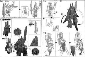 MG Zeta Gundam III B Type Gray Zeta English Manual & Color