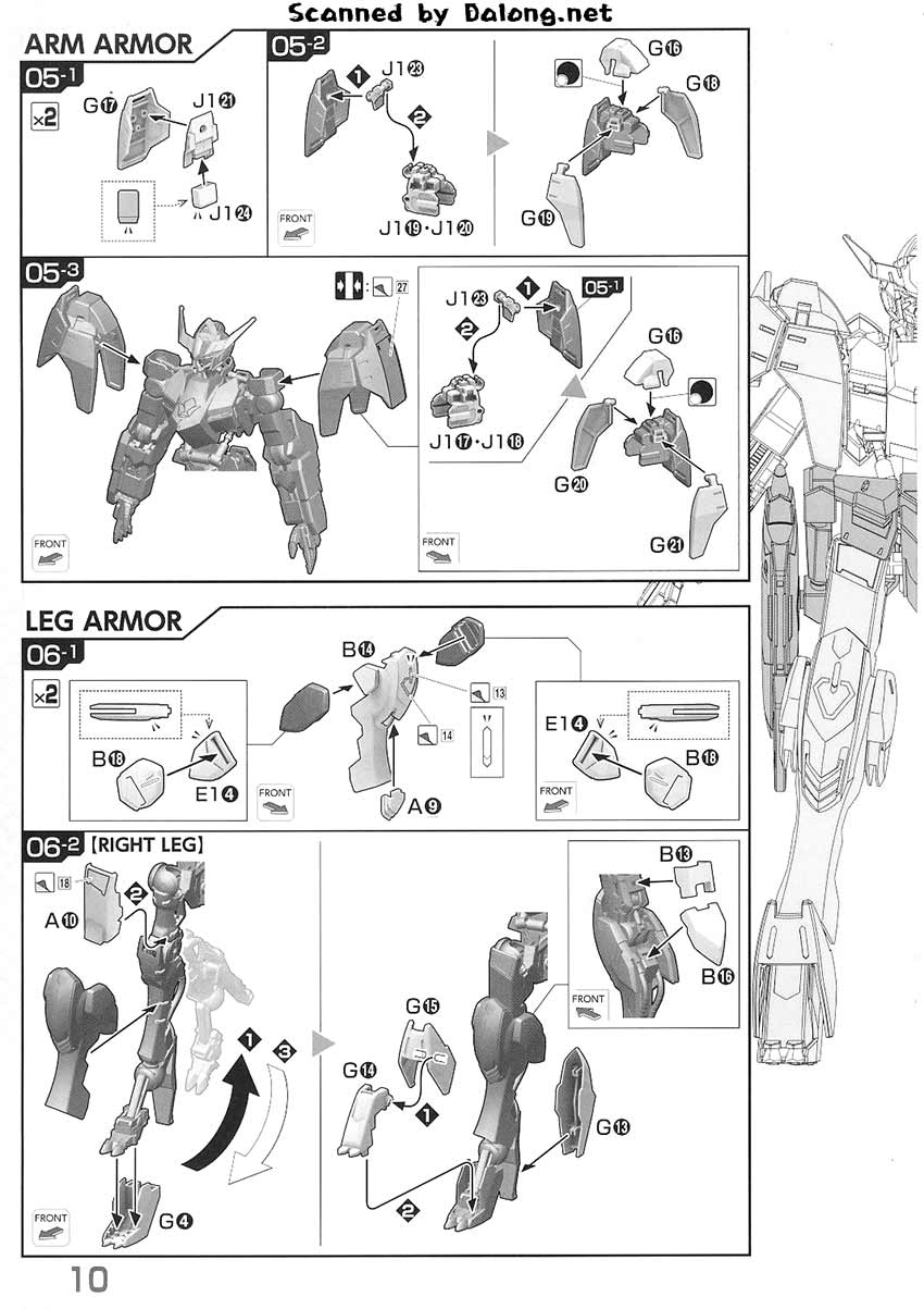 1/100 Gundam Barbatos 6th Form English Manual & Color