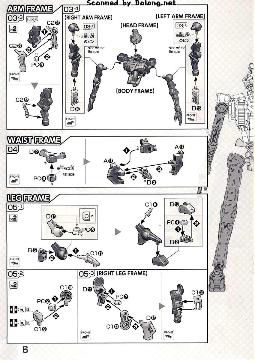 1/100 Gundam Kimaris Booster Unit Type English Manual