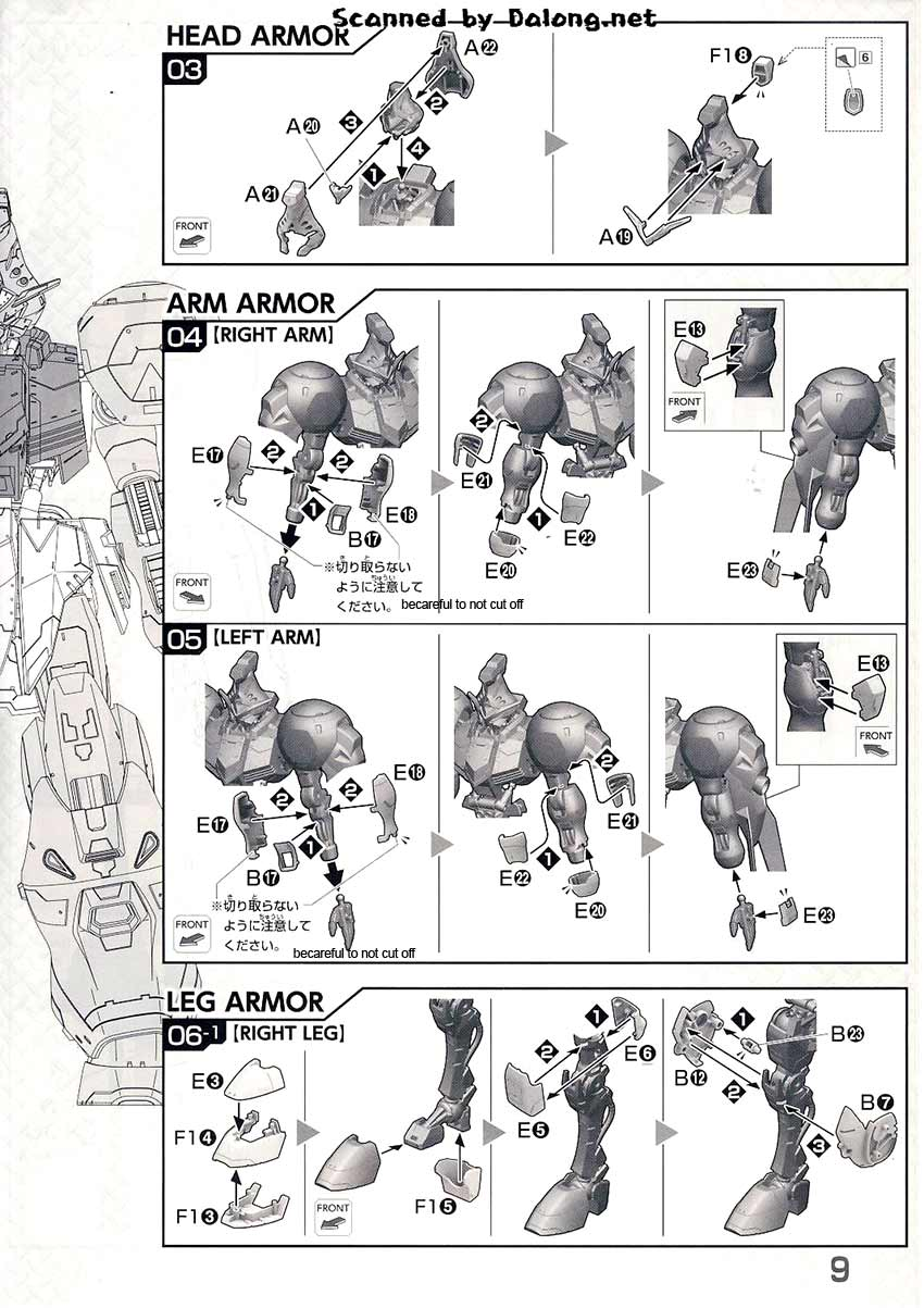 1/100 Gundam Kimaris Booster Unit Type English Manual
