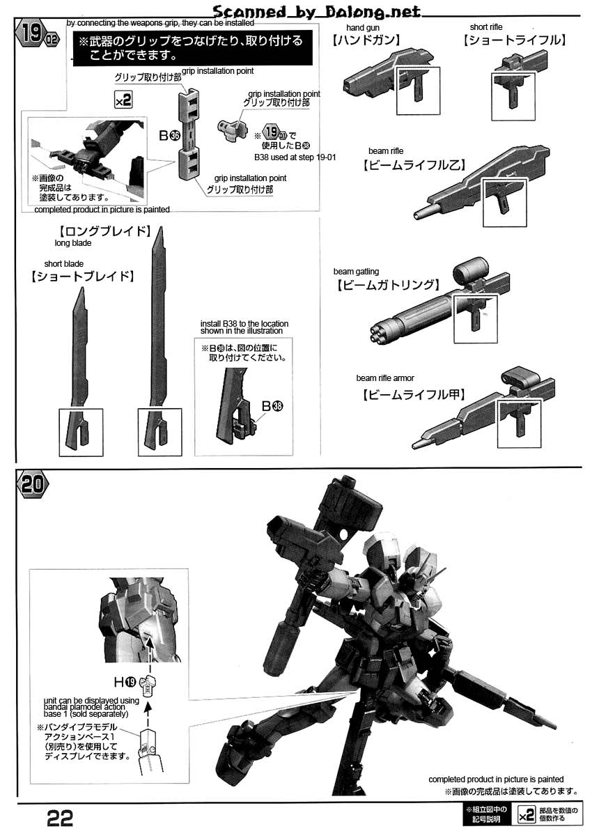 MG Gundam Amazing Red Warrior English Manual & Color Guide