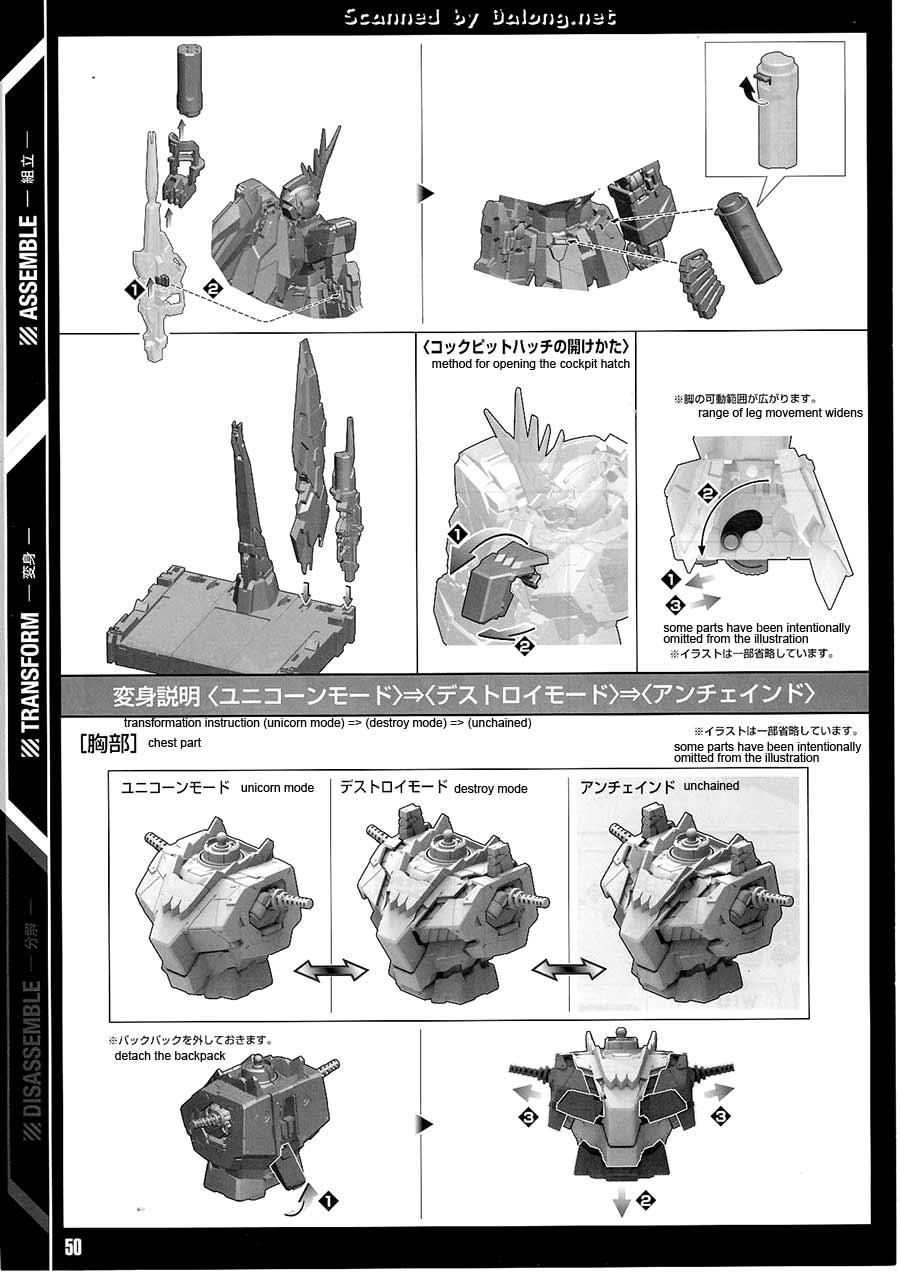 PG 1/60 Unicorn Gundam 02 Banshee Norn English Manual