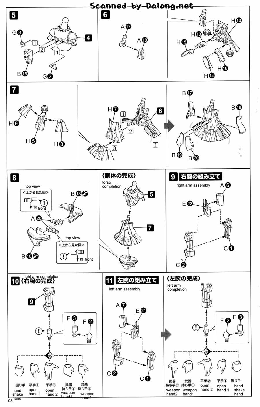 Frame Arms Girl Architect English Manual, Color Guide