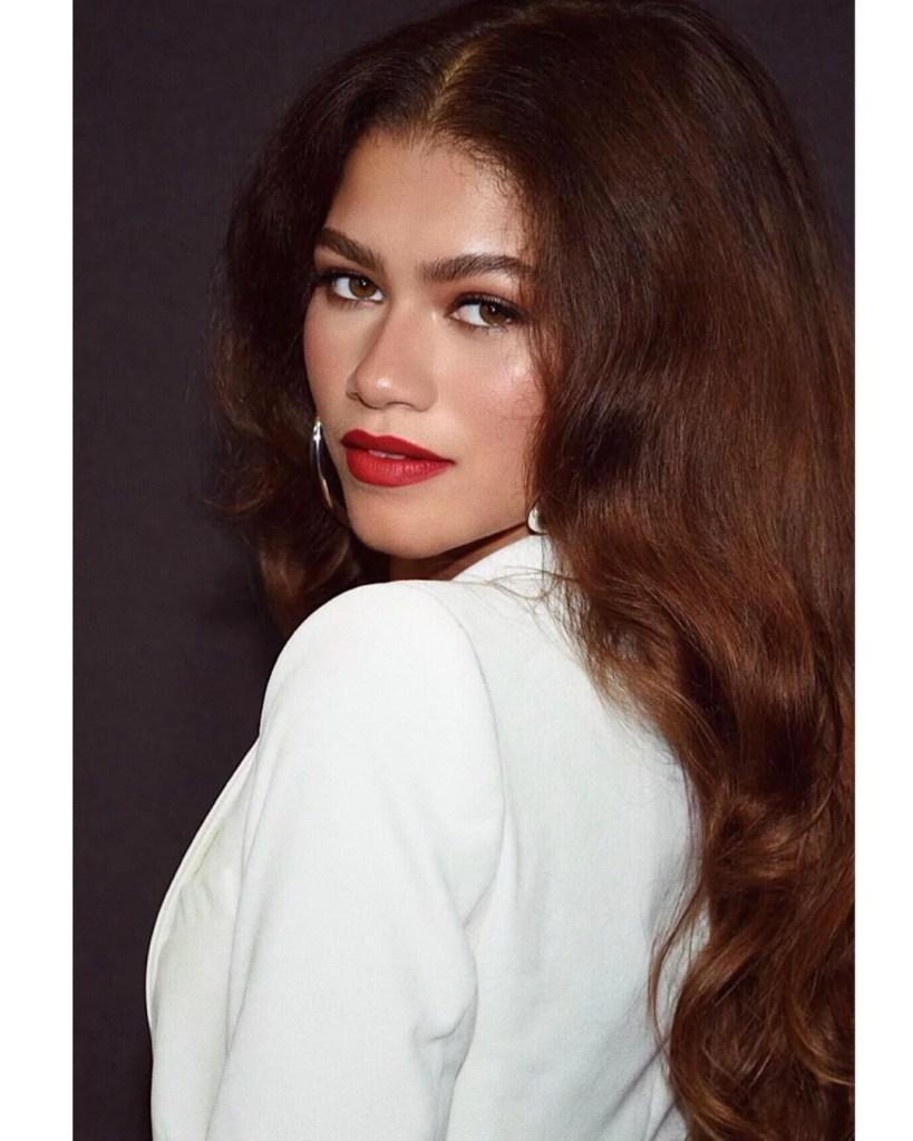 Zendaya at the ad shot