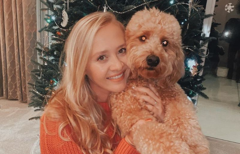 Jessica Korda with her pet