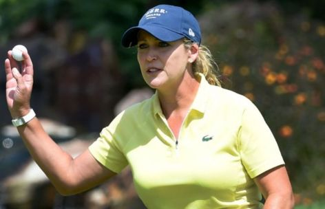 Cristie Kerr at the golf practice session