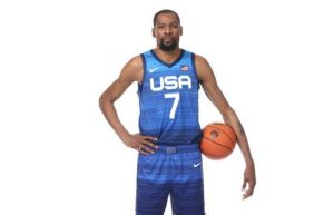 Kevin Durant at the 2021 usa basketball tournament