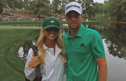 Daniel Berger at the Augusta national masters