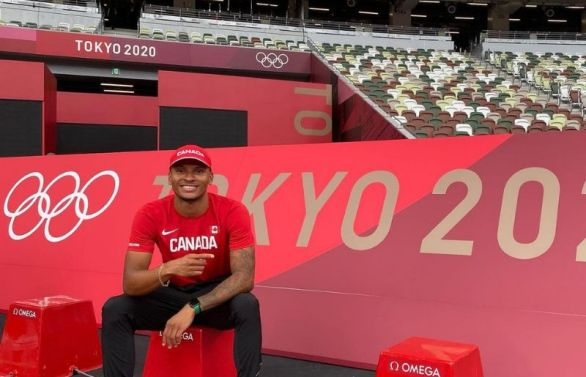 Andre De Grasse at the Tokyo Olympics